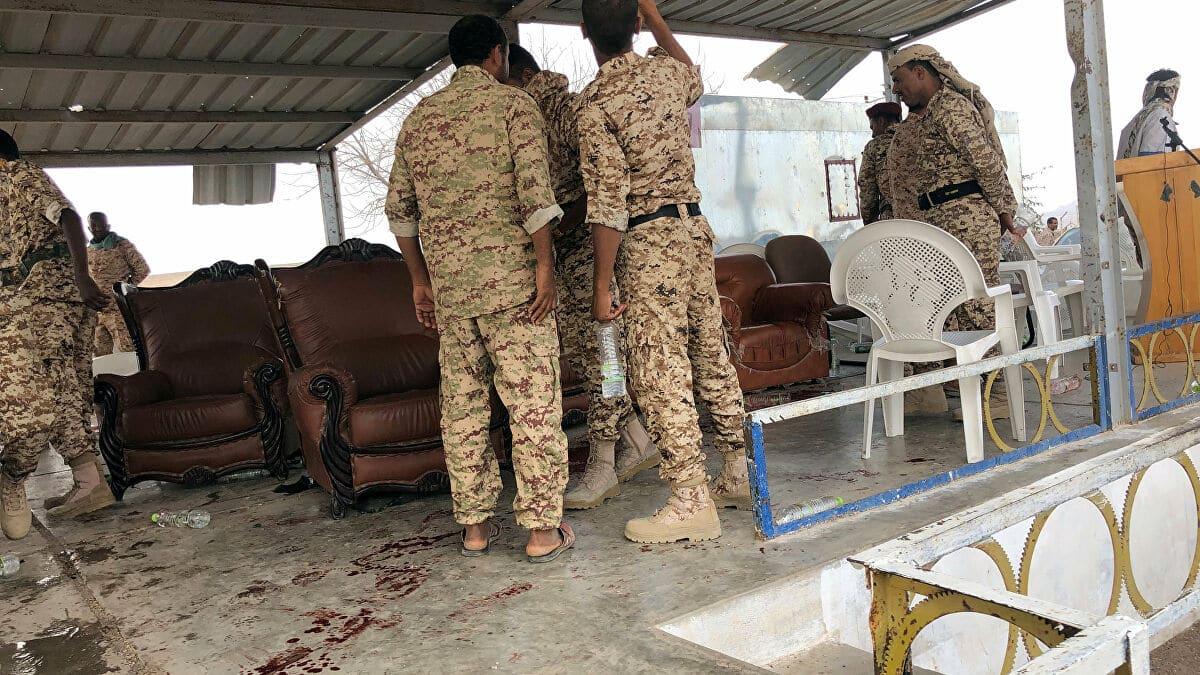 استهداف قاعدة العند الجوية جنوبي اليمن