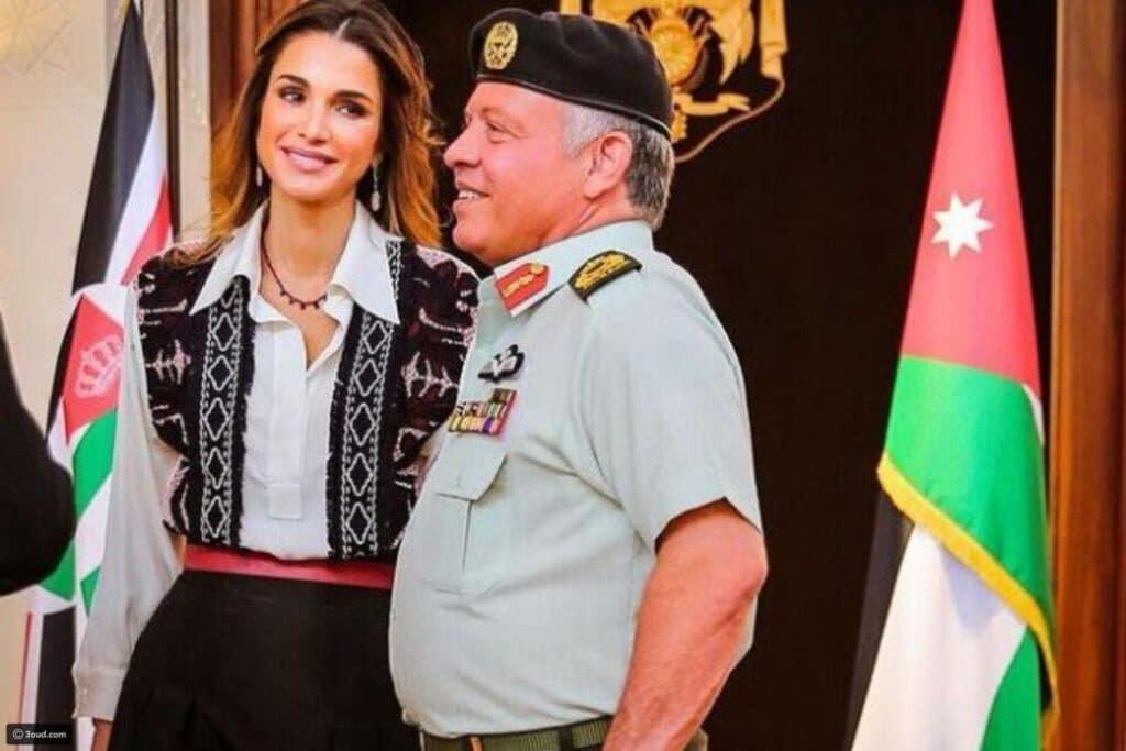 """""""محظوظة أني وجدتك ولي الشرف"""".. الملكة رانيا تتغزل بالملك عبدالله على تويتر وهذا ما قالته"""