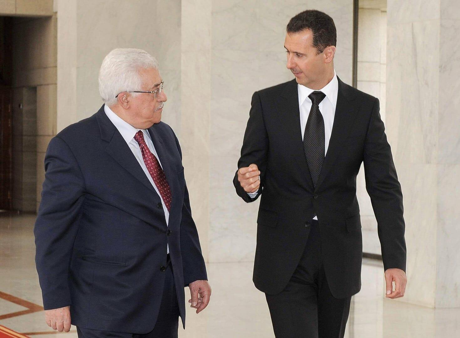 محمود عباس وبشار الاسد