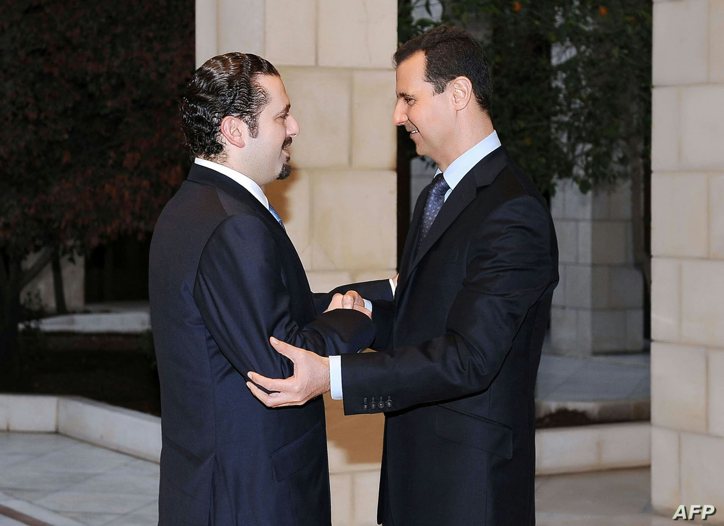 بشار الاسد وسعد الحريري