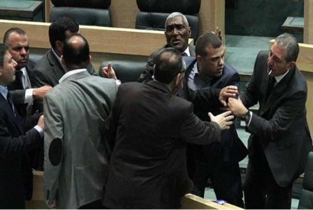 شجار في البرلمان الاردني