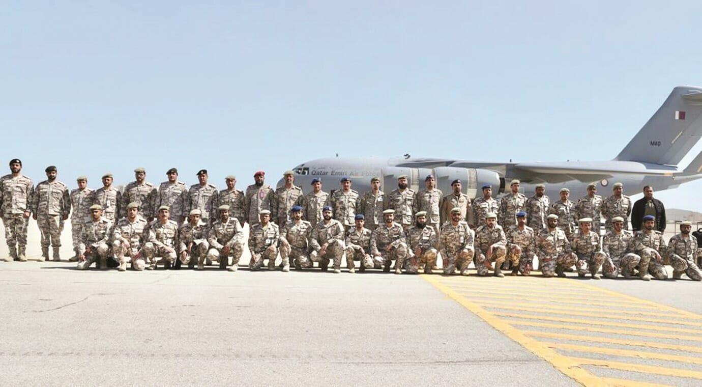 قوات عسكرية قطرية تصل السعودية