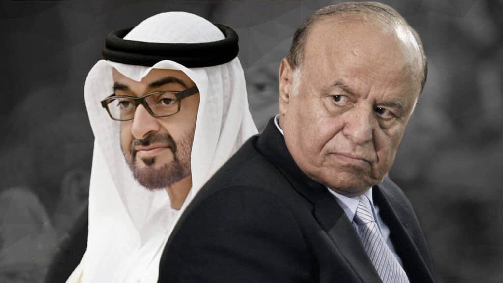 محمد بن زايد مع المخلوع علي عبدالله صالح قبل وفاته.