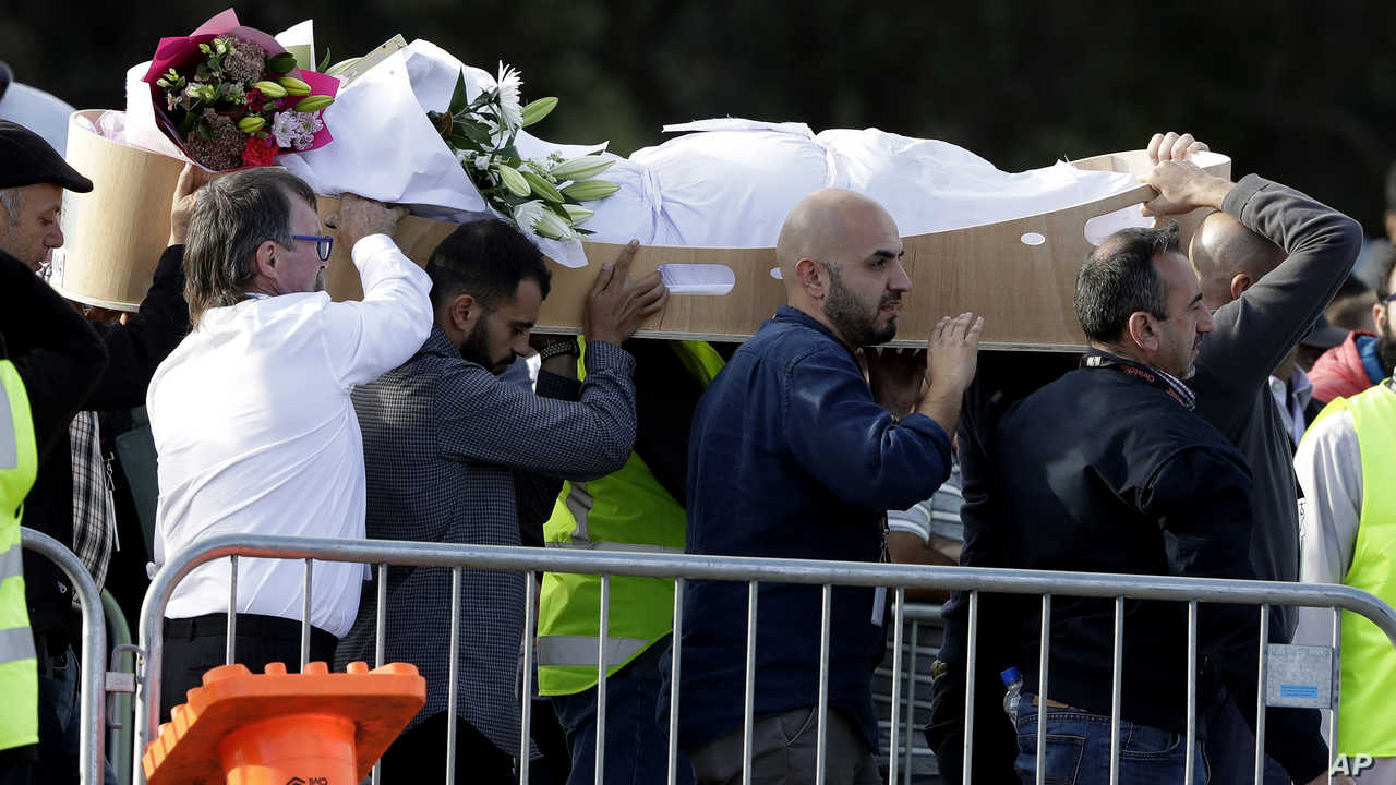 تشييع جثامين مجزرة نيوزيلندا