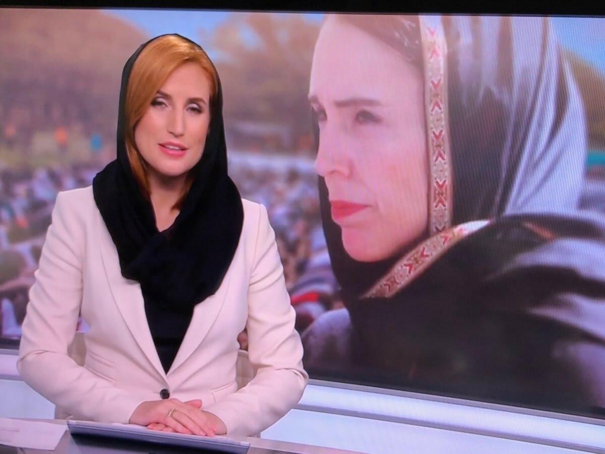 مذيعة تلفزيون نيوزيلندي