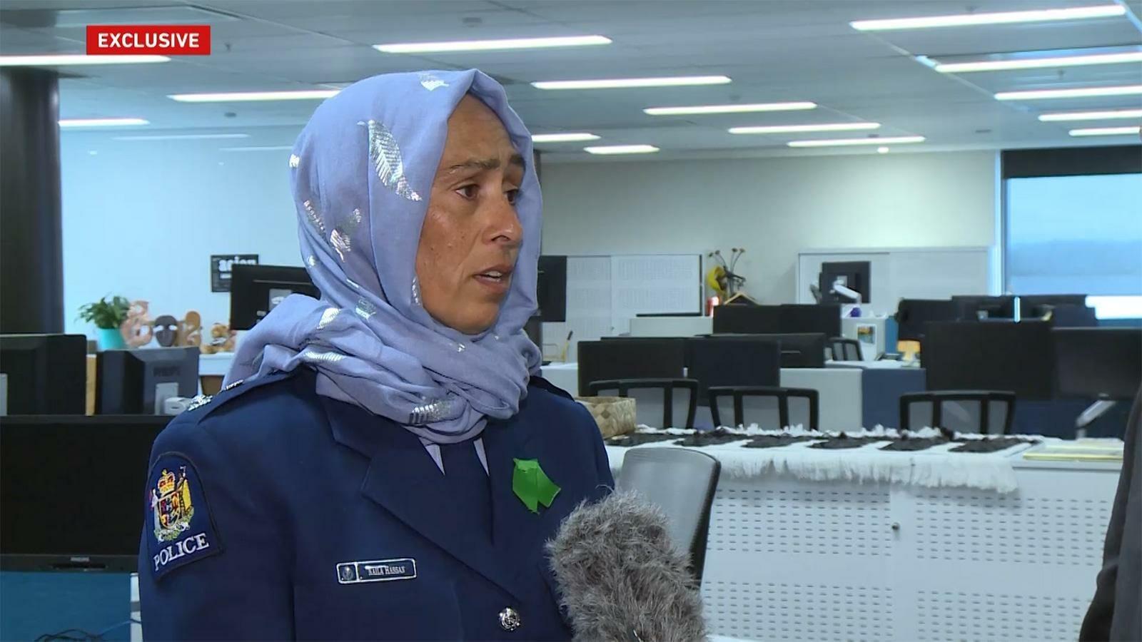 نائلة حسن قائدة شرطة نيوزيلندا