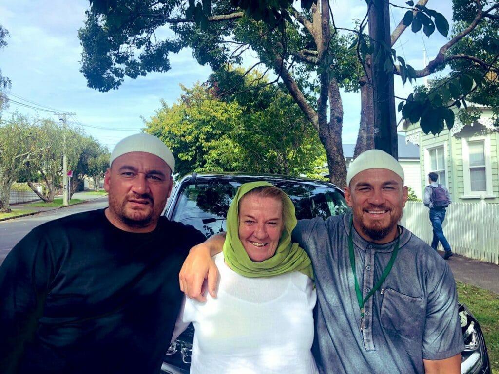 والدة لاعب الركبي النيوزيلندي المسلم