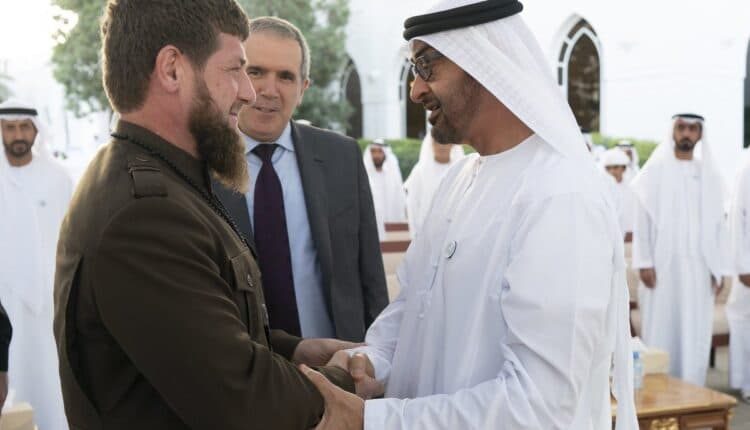 رئيس الشيشاني رمضان قاديروف في الإمارات