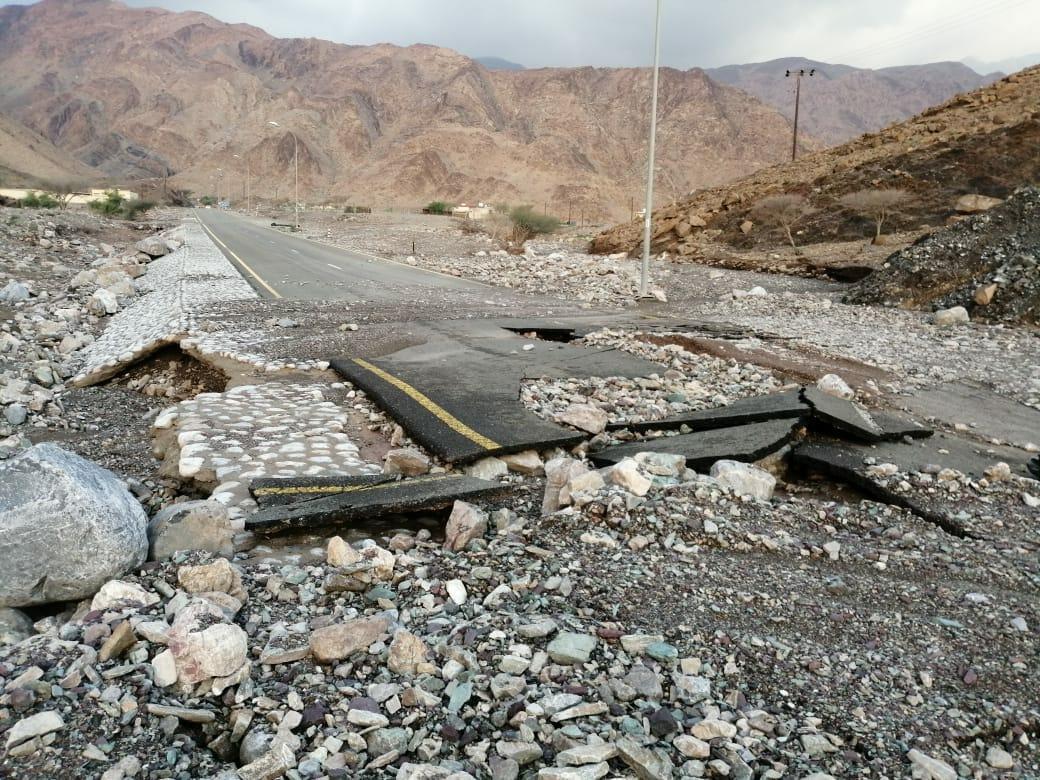 """شاهد  ماذا فعل """"منخفض الفيض"""" بالمناطق التي أثّر عليها في سلطنة عمان؟؟"""