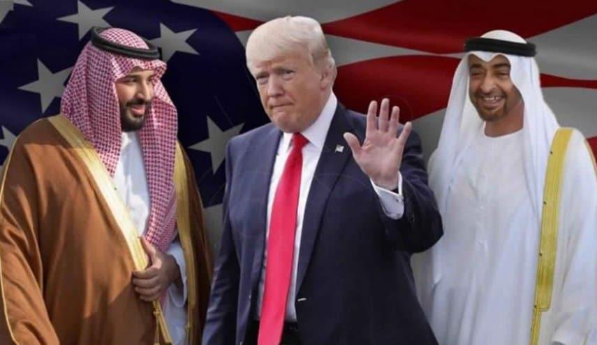 ترامب ومحمد بن زايد ومحمد بن سلمان