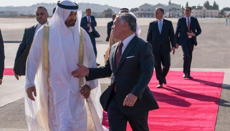 محمد بن زايد ولي عهد أبوظبي مع العاهل الاردني الملك عبدالله الثاني