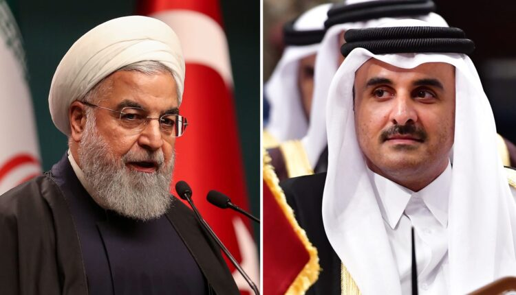 أمير قطر و إيران