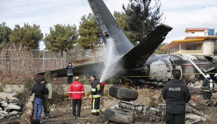 سقوط الطائرة الأوكرانية