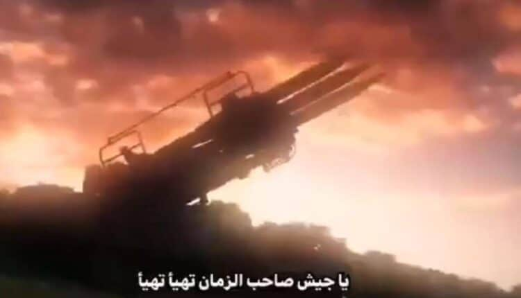 التلفزيون الايراني يبث نشيد الحرب