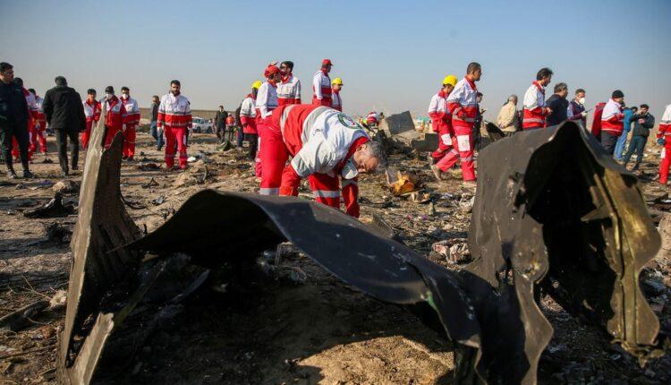 سقوط الطائرة الاوكرانية