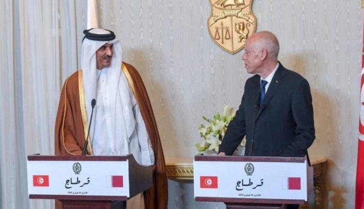 رئيس تونس قيس سعيد و امير قطر