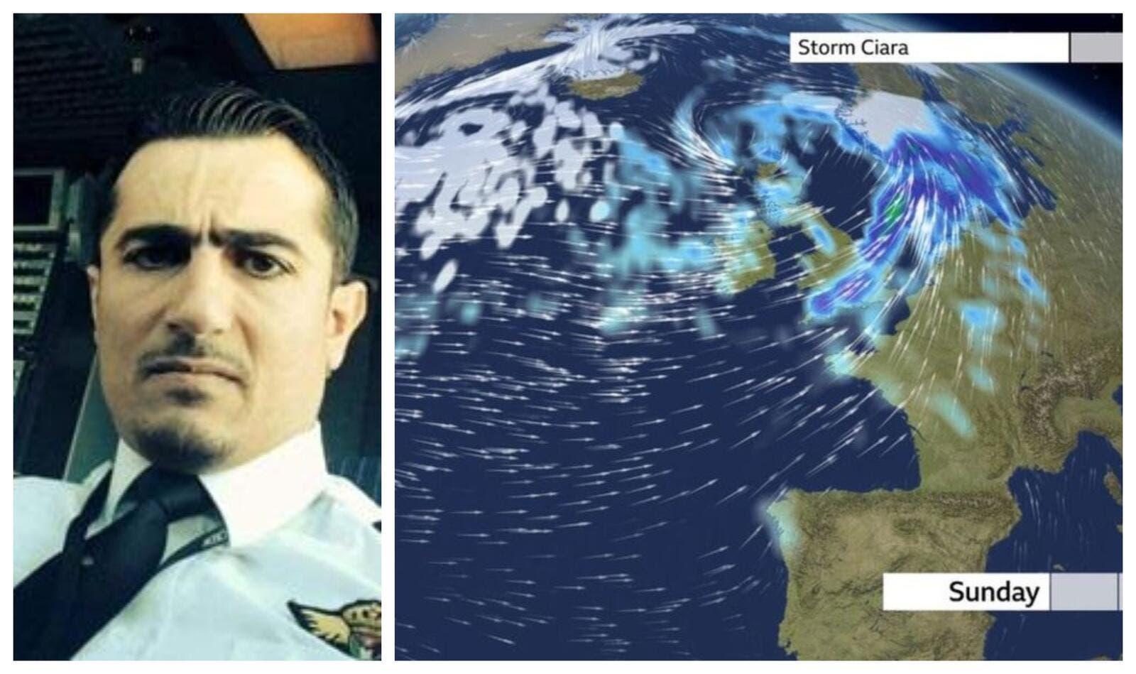 """""""شاهد"""" طيار الملكية الأردنية سيف التل فعل بطائرته ما عجز عنه 20 طياراً بسبب العاصفة سيارا"""