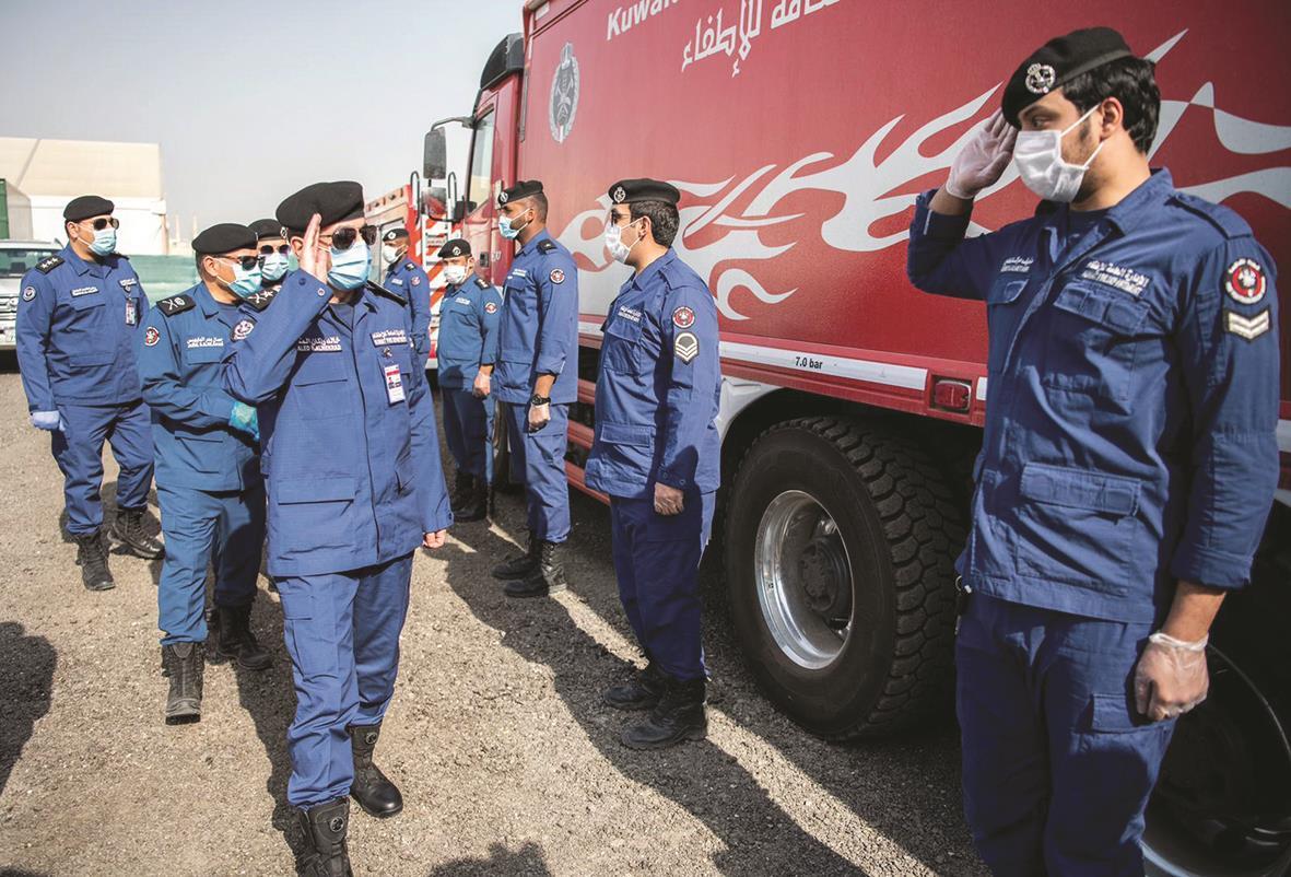 رجال الاطفاء الكويتي