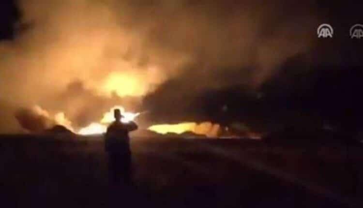 ضربات شنتها القوات التركية على أهداف عسكرية للحكومة السورية
