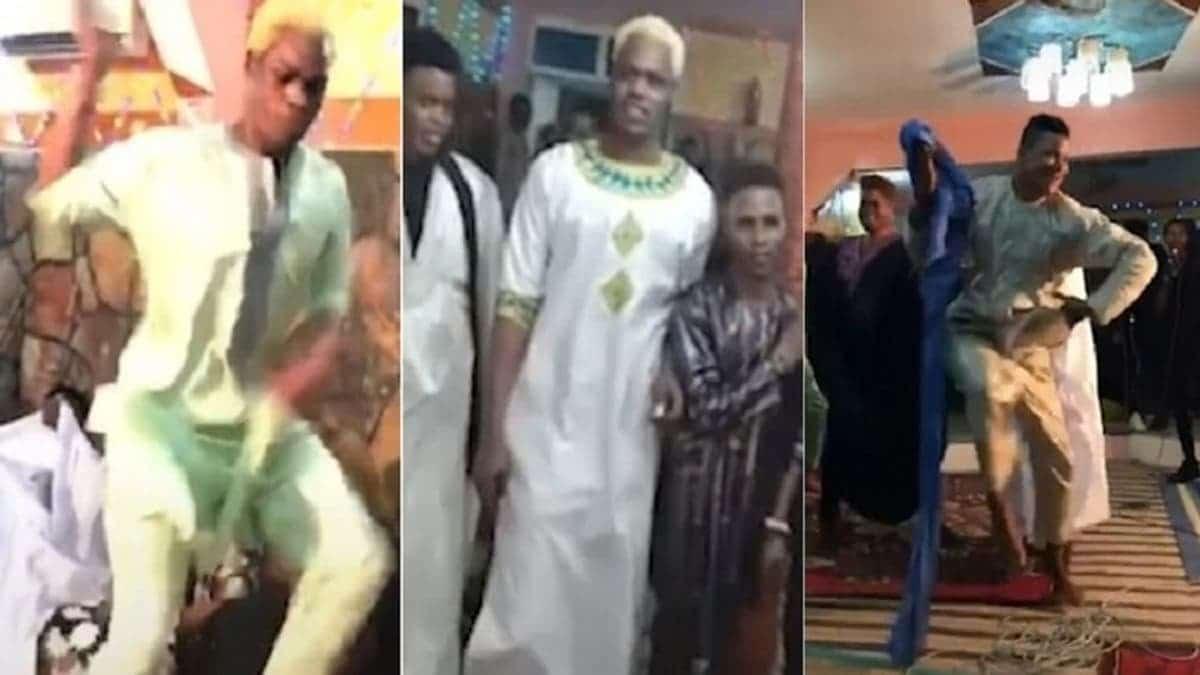 """""""شاهد"""" """"عرس للشواذ"""" في موريتانيا يثير جدلاً واسعاً.. هذا ما فعله 8 رجال ظهروا بملابس نسائية وهم يرقصون"""