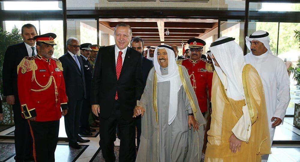 اردوغان وصباح الاحمد