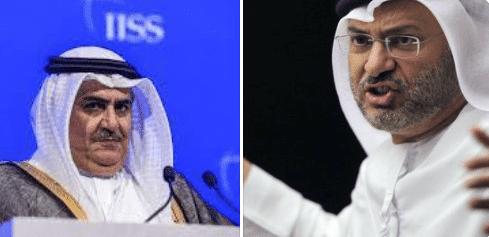 أنور قرقاش وخالد بن أحمد - غزو قطر