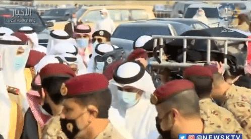 أمير الكويت نواف الأحمد جنازة الشيخ صباح الأحمد