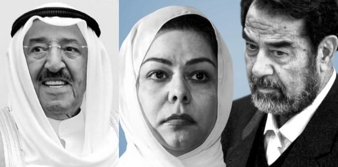 رغد صدام حسين تعزي بوفاة أمير الكويت صباح الاحمد