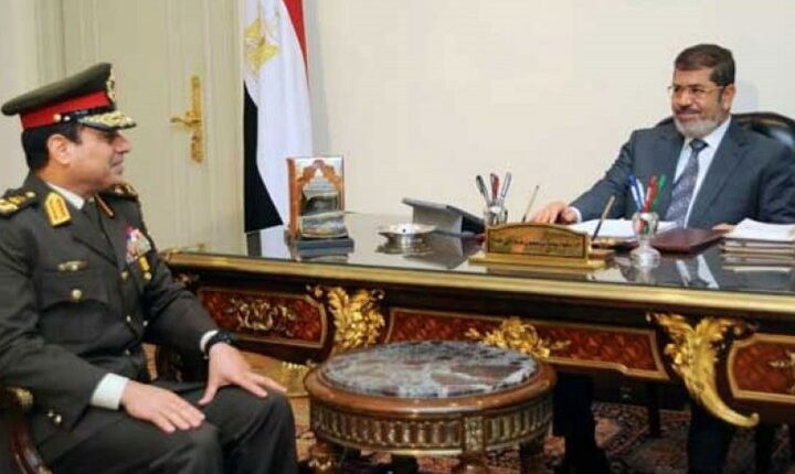 محمد مرسي والسيسي