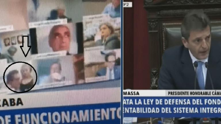نائب أرجنتيني في مشهد اباحي