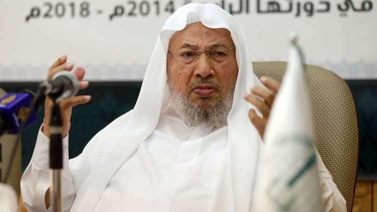"""وفاة الداعية يوسف القرضاوي.. """"علماء المسلمين"""" يعلق على ما يشاع بمواقع التواصل ويكشف الحقيقة"""
