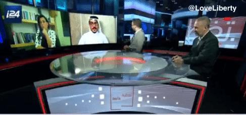 لقاء أمجد طه على قناة إسرائيلية