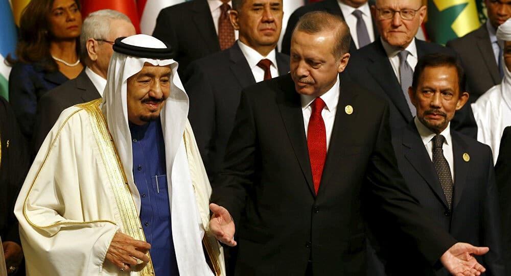 أردوغان وملك السعودية سلمان