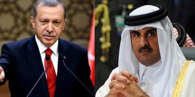 اردوغان وتميم - ازمير