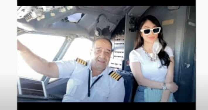 اعلامية عراقية وطيار