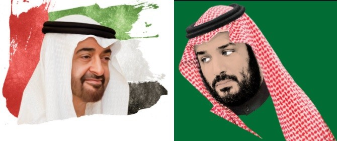 محمد بن سلمان - محمد بن زايد - الأزمة الخليجية