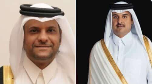 الشيخ تميم بن حمد وسعود بن عبدالرحمن