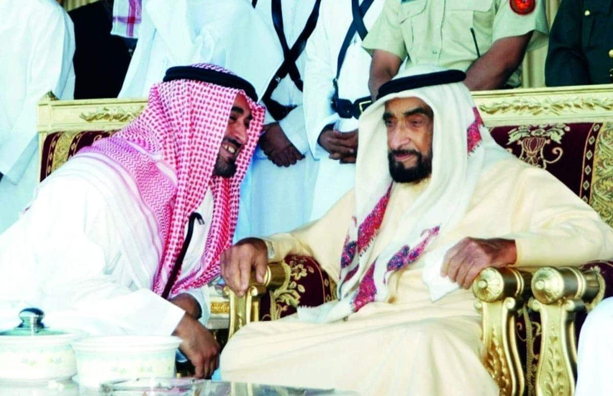 الشيخ زايد ونجله محمد