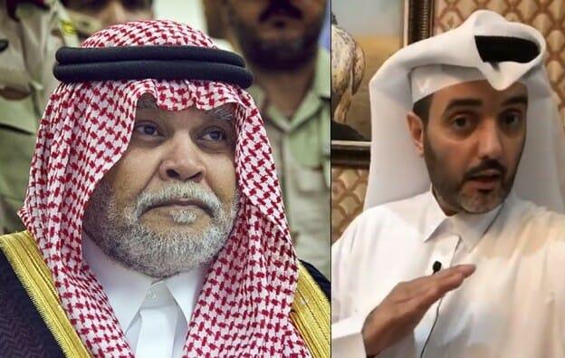 الناشط القطري أحمد القوبري يجلد الأمير السعودي بندر بن سلطان
