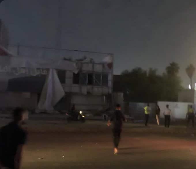 انفجار قرب الخطوط الجوية الاماراتية