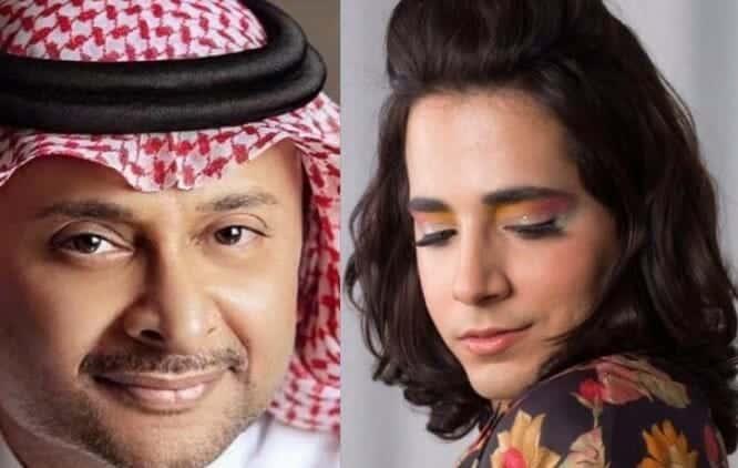 بدر خلف يتحرش بالفنان عبدالمجيد عبدالله