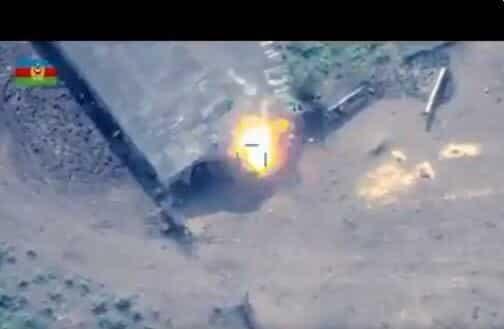 """""""لا تُبقي ولا تذر"""".. """"بيرقدار"""" التركية كابوس جنود أرمنيا المرعب وما فعلته بهم في هذا """"الفيديو"""" خيالي!"""