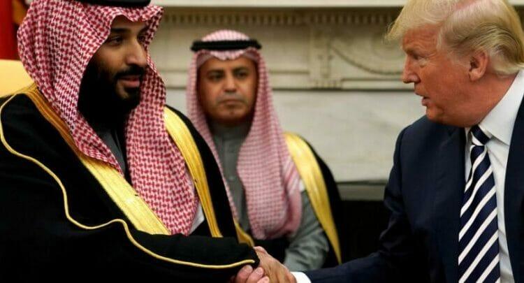 ترامب ومحمد بن سلمان ولي عهد السعودية