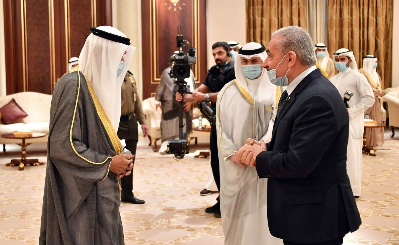رئيس الوزراء الفلسطيني وأمير الكويت نواف الأحمد
