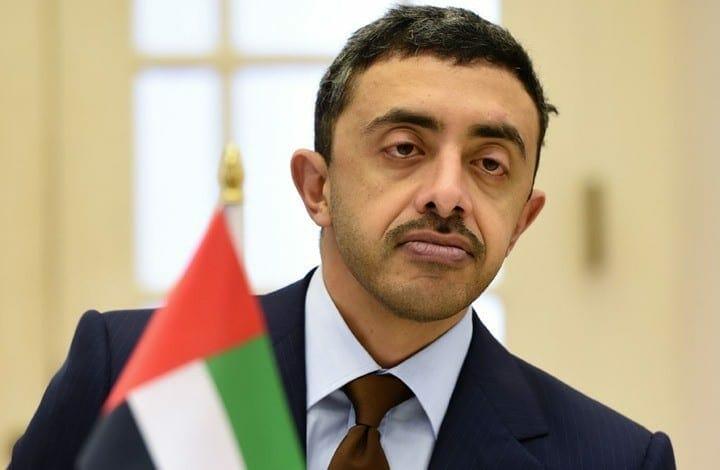 """عبد الله بن زايد """"مُشتاق"""" لأولاد عمه في إسرائيل وطالب بفتح سفارة للإمارات بتل أبيب في أسرع وقت"""