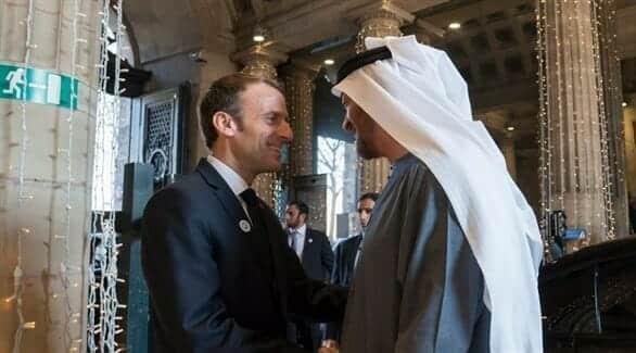ماكرون و محمد بن زايد مقاطعة فرنسا