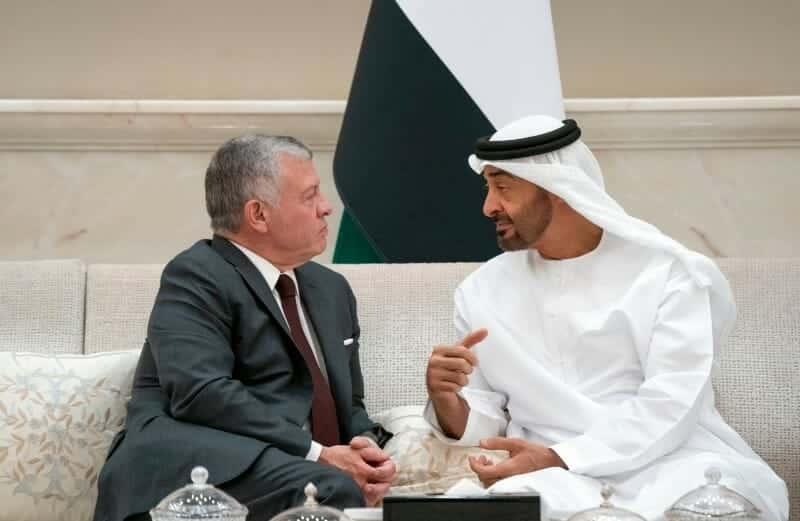 محمد بن زايد والملك عبدالله الثاني ملك الأردن