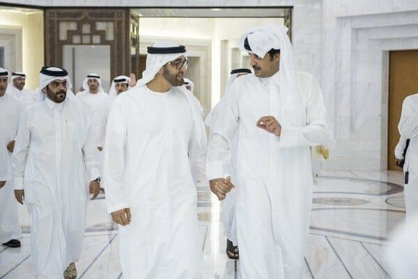 محمد بن زايد وتميم - الغاز القطري
