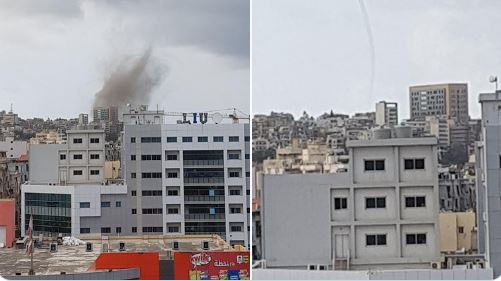 اعصار تنين البحر في مرفأ بيروت