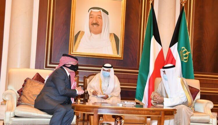 ملك الأردن وأمير الكويت